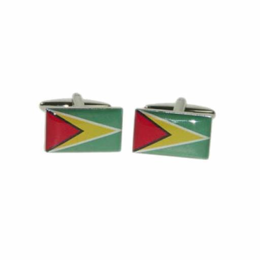 Guyana Flag Cufflinks (BOCF90)