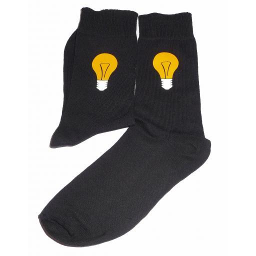 Light Bulb Socks - Something for the Electrician, Great Novelty Gift Socks Luxury Cotton Novelty Socks Adult size UK 6-12 Euro 39-49