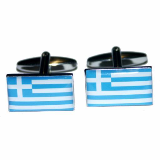 Greece Flag Cufflinks (BOCF8)