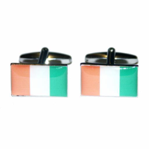Cte d'Ivoire Flag Cufflinks (BOCF27)