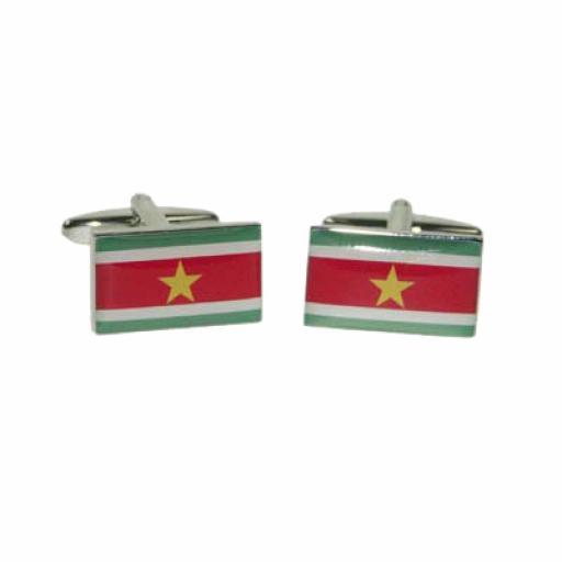 Suriname Flag Cufflinks (BOCF109)