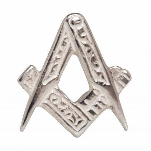 Masonic Open square & compass Tie Tac - Sterling Silver All our cufflinks come presented in a gift box