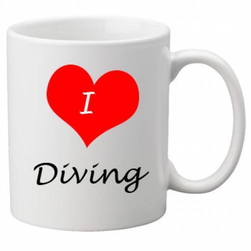 I Love Diving 11oz Ceramic Mug