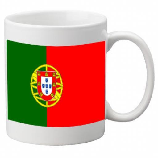 Portugal Flag Ceramic Mug 11oz Mug, Great Novelty Mug