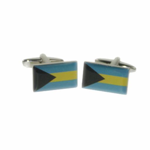 Bahamas Flag Cufflinks (BOCF74)