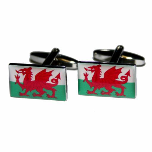 Wales Flag Cufflinks (BOCF49)