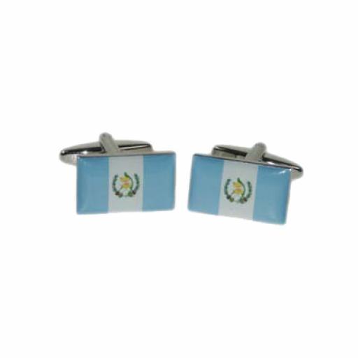 Guatemala Flag Cufflinks (BOCF89)