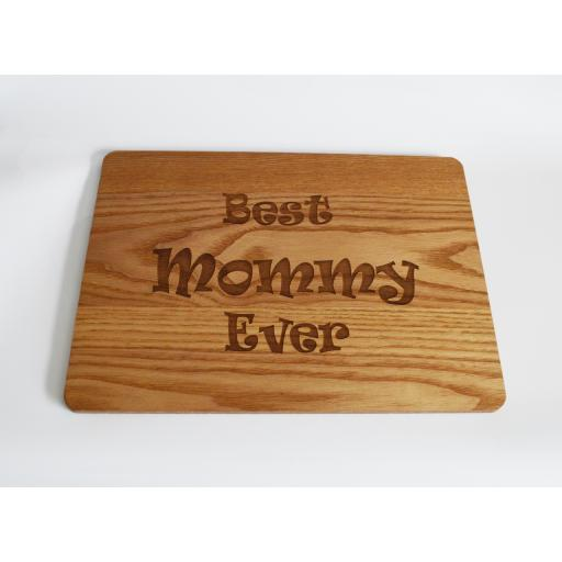 Best Mommy Ever Wooden Engraved Place Mat