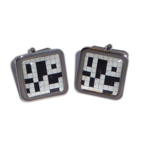 Crossword Puzzel cufflinks