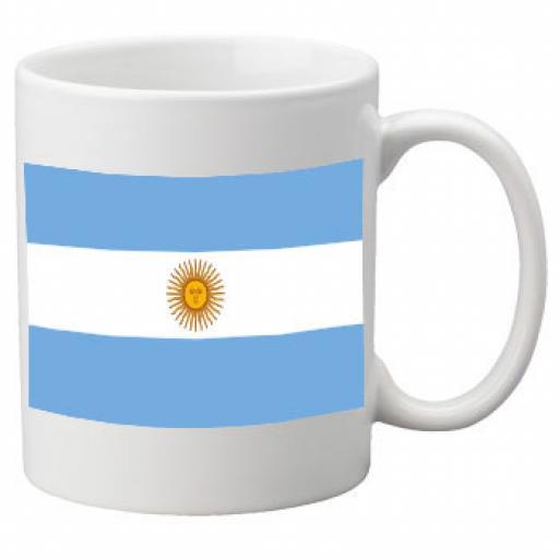 Argentina Flag Ceramic Mug 11oz Mug, Great Novelty Mug